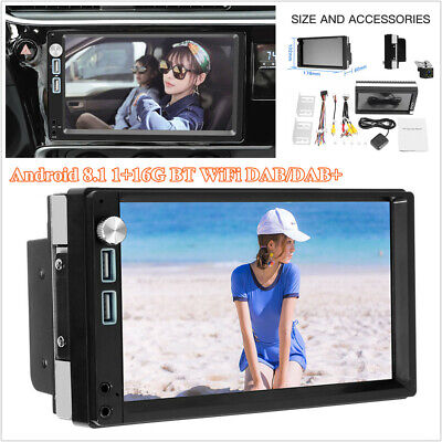 7'' 2 DIN Car Stereo Radio MP5 Player WiFi GPS BT w/DAB Receiver Rearview Camera