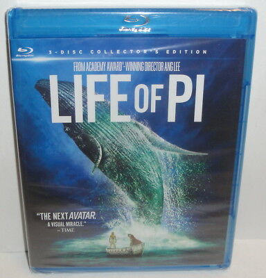 LIFE OF PI 3-Disc Collector's Edition BLU-RAY MOVIE BRAND NEW Bonus Material dvd
