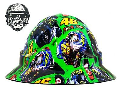 Custom Hydrographic Wide Brim Safety Hard Hats ROSSI WIDE