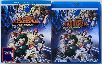 My Hero Academia Two Heroes Blu Ray Dvd 2 Disc Set + Slipcover Sleeve Buy It Now