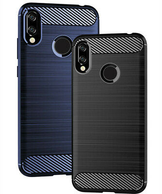 For Huawei Y6 Y7Pro Y9 2019 Case Shockproof Carbon Fiber Silicone Soft TPU Cover
