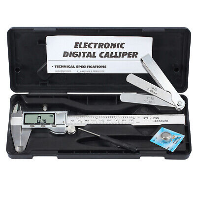 Digital Vernier Caliper + Feeler Gauge 150mm Stainless Steel Electronic Caliper