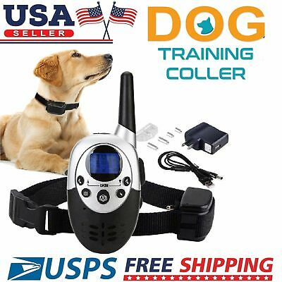 1000 Yard Dog Shock Collar Wiz Remote Waterproof Electric For Large Pet Train BE