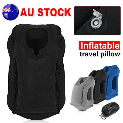 Inflatable Air Travel Pillow Cushion Neck flight Comfortable Support Nap New