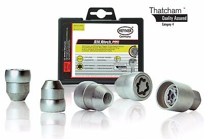 Hyundai Atoz 1998-2016 HEYNER wheel locking nuts M12x1.5 Thatcham assured