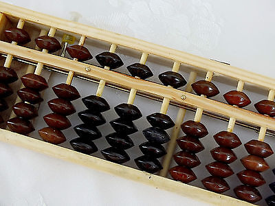Chinese Mathematics Wood Abacus Reset Button Calculator Children Adult Learner