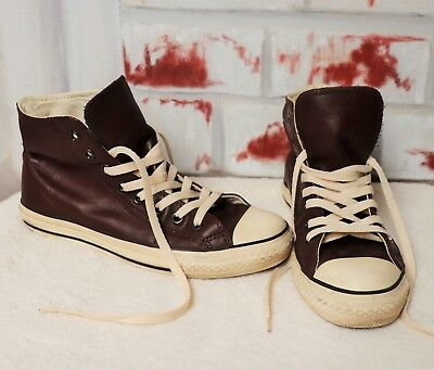 c78ee8775a2 Braune Converse Echt Leder Winter Chucks High Top Braun Beige 41 UK 7,5
