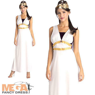 Helen of Troy Costume Womens Ladies Grecian Toga Roman Greek Fancy Dress Outfit
