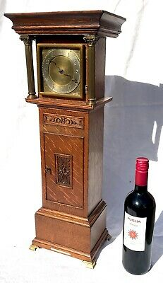Antique Miniature Long Case Grandfather Clock Houghton & Gunn Bond St London Oak