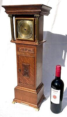 Antique Miniature Longcase Grandfather Clock Houghton & Gunn Bond St London Oak