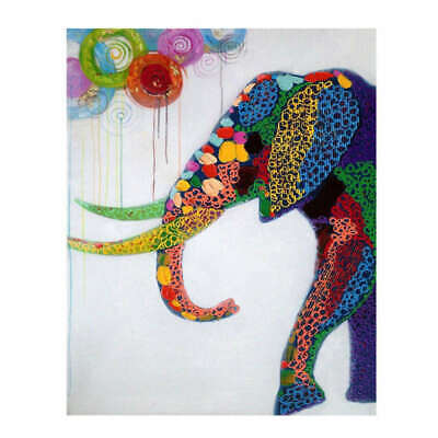 Abstract Elephant Canvas Oil Painting Print Picture Home Wall Art Decor