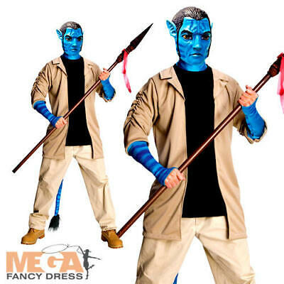 MENS DELUXE JAKE SULLY AVATAR MOVIE NA/'VI COSPLAY FANCY DRESS COSTUME OUTFIT