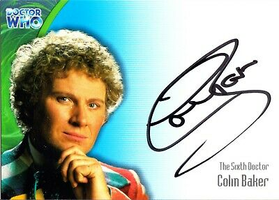 Colin Baker Signed The Sixth Doctor Who Autograph Auto Card AU1