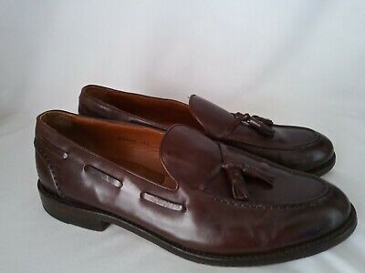 e04296de377 J. CREW Ludlow Cigar Brown Leather Hand Made Tassel Loafers Shoes B8425 Sz  12 D