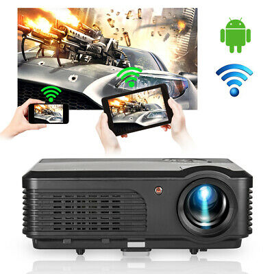 LED Android WIFI Home Cinema Projector 1080P YouTube Netflix WLAN Movie Miracast