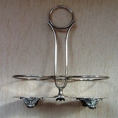 Vintage Walker & Hall Silver Plated Oil and Vinegar Stand Dated 1900