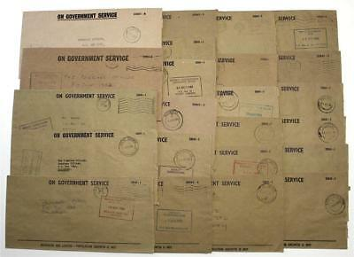 Zimbabwe 23 x Government Service Covers Mostly 1980. Cachets & Postmark Interest