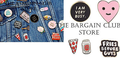 PINS Ban.do Flair Pin fries before guys /  Herbie Heart / I am Very Busy PINS
