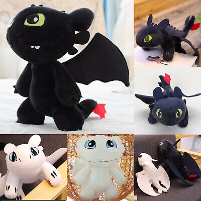 Toothless Night Fury Soft Toy Teddy How to Train Your Dragon Plush Doll 25-35cm