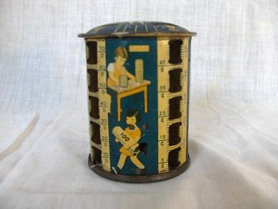 very old *  TIN LTIHO COIN BANK WORKS AND TURNS GOOD