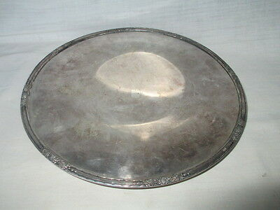 """International Silver Co""""Camille"""" 12"""" Footed Cake Plate #6021 Vintage Silverplate"""