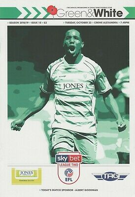 * 2018/19 - Yeovil Town Home Programmes (Last Season In League) Choose From *
