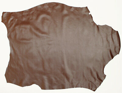 Goatskin Skiver Leather 10.0 Sq Ft, 0.5-0.7 mm Chocolate Ideal for Bookbinding