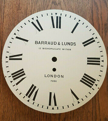 """A superb fusee 12"""" steel clock dial Barraud & Lunds - Pristine condition"""