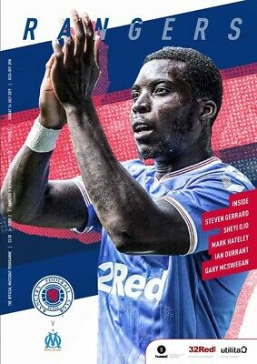 Rangers v St Mirren 2018/19 brand new football programme