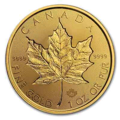 2019 Canada 1 oz Gold Incuse Maple Leaf BU - SKU#188648