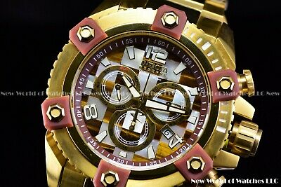 Invicta 63mm Reserve Grand Octane Arsenal Checker Mosaic MOP Swiss 24kGold Watch
