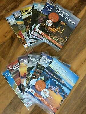 Caravan and Motorhome Club Magazines 2018 Complete Year - New / Sealed