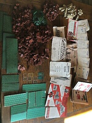 Minibrix - vintage building System over 650 items mixed condition + Instructions