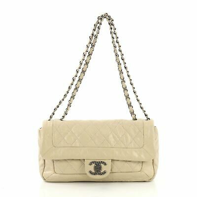 4e9ecef4f320 NEW100% AUTHENTIC CHANEL Medium Aged Calfskin Coco Handle Bag With ...