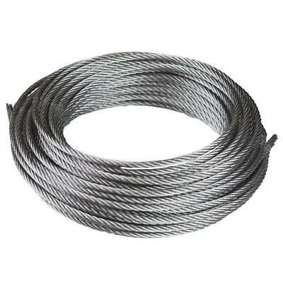 6mm Galvanised or Stainless Steel Wire Rope 7x7 FREE DELIVERY