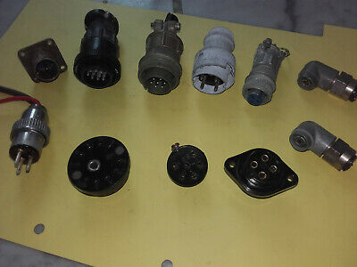 convolute connectors Wehrmacht / Luftwaffe Fl., Nato, BW, US, see text