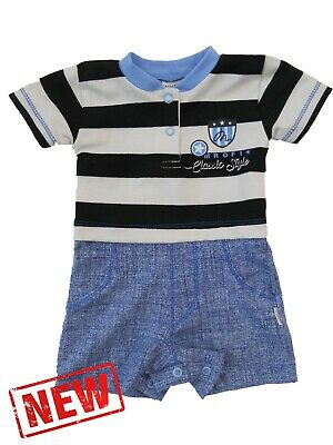 BNWT Baby Infant Boys **All In One **Romper **Outfit  **Bodysuit 0-3//9-12 Months