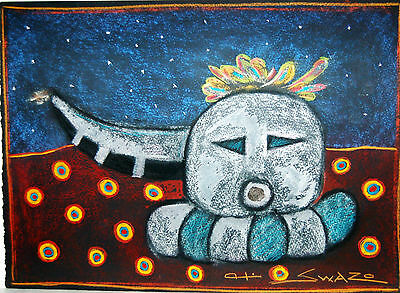 Native American Art By Mark Swazo-Hinds~Original Pastel~Nice~10.25X14.50