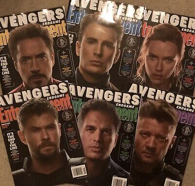 Lot Of 6 Entertainment Weekly Magazines (April 2019) Avengers End Game; NEW