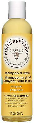 Burt's Bees Baby Shampoo And Wash, Original Tear Free Baby Wash – 235ml Bottle