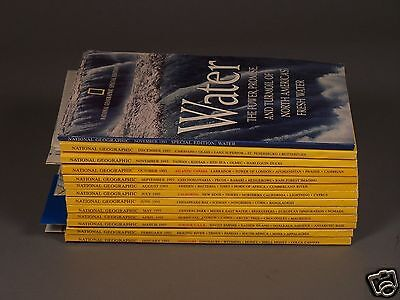 Vintage National Geographic Magazines From 1993 - All 12 Issues with 5 Maps +