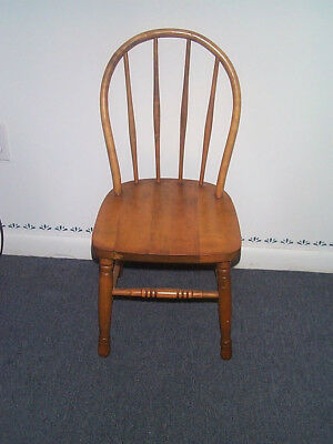 Child's Bent/Bow Back Chair Solid Wood Vintage LOCAL PICK  UP  Reduced Price
