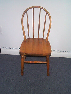 Child's Bent/Bow Back Chair Solid Wood Vintage Local Pick UP PRICE REDUCTION