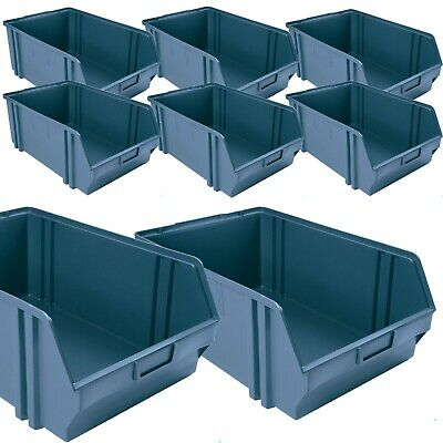 100 x Large Heavy Duty Plastic Picking / Packing Bins Open Front Stack-able Tub