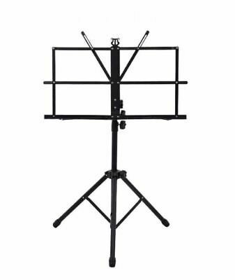 Metal Music Stand Adjustable Folding Book Sheet Holder with Carry Case Bag