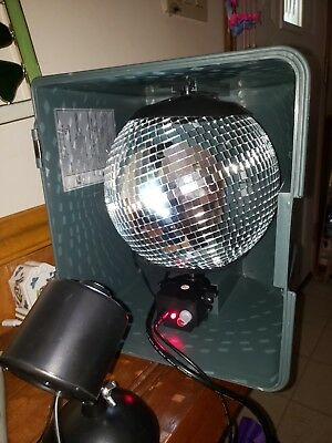 DJ DISCO BALL WITH LIGHT BUILT IN CASE 110 portable