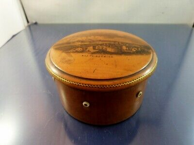 CLARK & CO WOOD SOUVENIR & ADVERTISING THREAD DISPENSER with THIMBLE SLOT