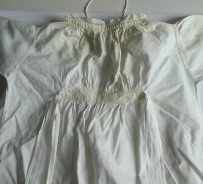 Vintage Victorian, Edwardian White Cotton Lace Gown, Christening Gown #2