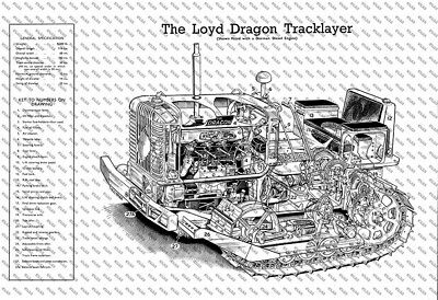 Loyd Dragon Tracklayer Cutaway - Poster (A3) - (3 for 2 offer)