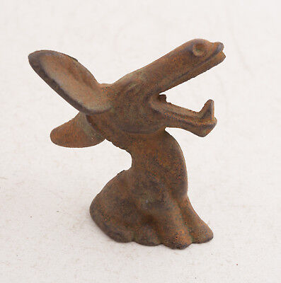 "Cast Iron Braying Donkey Mule Bottle Opener Paperweight (F1L) 3.25"" Nice Patina"